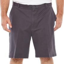 Izod Saltwater Stretch Shorts Size 50 Asphalt Big & Tall 10.5 Inseam NEW - $36.62