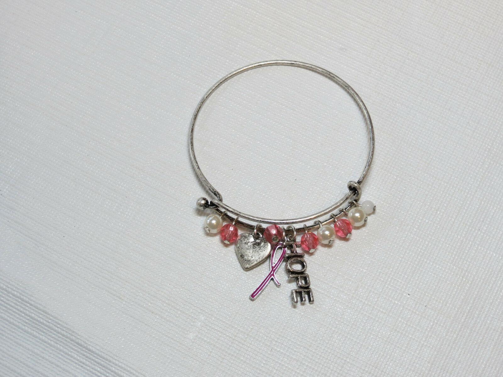 Femmes Avon Cancer Du Sein Crusade Breloque Bracelet F3983781 Nip image 2
