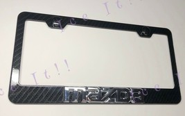3D Mazda CX-5 3K Twill Weave 100% Real Carbon Fiber License Plate Frame - $38.60