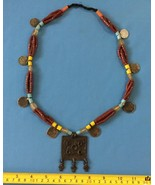 Mindanao Muslim precious Red coral beads necklace  Tribal Philippine coi... - $63.00
