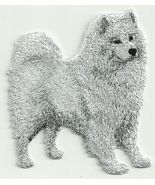 """2 3/4"""" x 3 1/8"""" Samoyed Dog Breed Embroidery Applique Patch - $8.00"""