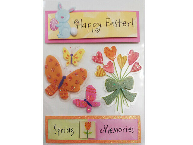 Happy Easters and Spring Memories Dimensional Sticker Set