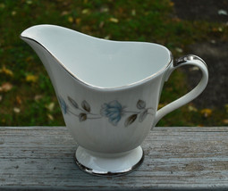 Vintage International Silver Fine China Creamer ELEGANT LADY - Excellent... - $12.90