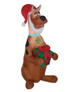 Inflatable Scooby Doo Airblown Christmas Santa Hat Outdoor Yard Decor Li... - $74.97