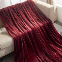Berkshire - Classic Velvety Plush Blanket - TWIN - Garnet Red New Super Soft - $47.49