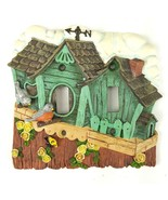 3D Double Toggle Light Switch Plate Cover Cozy Cottage Birds Houses Yell... - $13.99