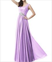 Sexy Lavender Chiffon Women Prom Dress A Line Long Bridesmaid Dresses Pl... - $72.90