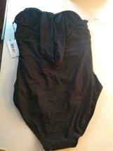 Calvin Klein Black Multi Wear Neck Line 4 Way Stretch One Piece Size 12 image 2