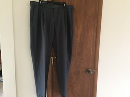 Croft & Barrow Mens Polyester GRAY Pleated Front Pants Size 40x32 Rolled... - $9.99