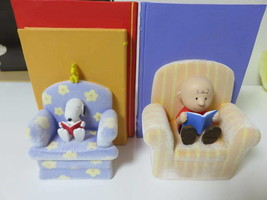 Snoopy Snoopy Bookend By The Book Hallmark Figure Charlie Brown - $236.14