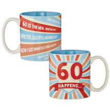 60 Happens Milestone Yay Senior Discount Cerami... - $12.98