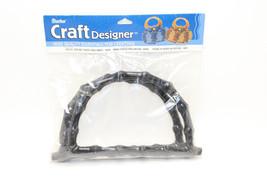 Darice Craft Designer Crafting Black Plastic Purse Handles Faux Bamboo 2... - $7.92