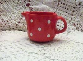 German Waechtersbach Red and White Polka Dot Creamer - $13.55