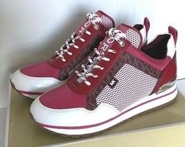Nuevo Michael Kors Maddy Zapatillas Sneakers Talla 7 Merlot Múltiple - $103.08