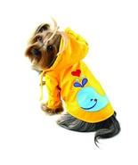 Klippo Dog/Puppy Splashing Whale Waterproof Jacket/Raincoat/Rain Gear/Rainwear w - $27.56