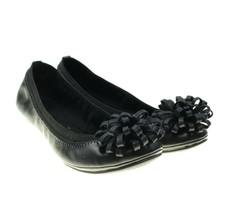 Bandolino Eloy Womens B-Flexible Black Pom Pom Embellished Ballet Flats ... - $38.60