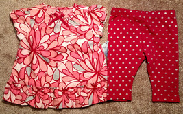 NWT Girl's Size 3 M 0-3 Months 2 Pc OshKosh Pink Silver Floral Dress & L... - $16.00