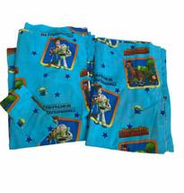 Vtg Disney Toy Story Buzz Lightyear Window Curtains Drapes 63 X 42 Blue - $29.69