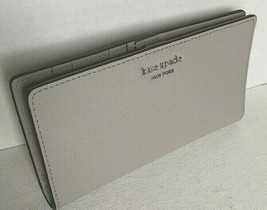 New Kate Spade New York Cameron Large Slim Bifold Leather wallet Soft Taupe - $64.00