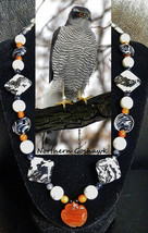 Northern Goshawk artisan handcrafted genuine stone, amber, shell, resin,... - $110.00
