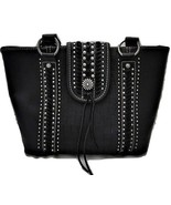 Montana West Black Black Leather Shoulder Purse - $58.99