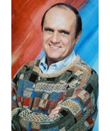 Bob Newhart Classic Pose of Cult Comedian in Sweater 18x24 Poster - $23.99