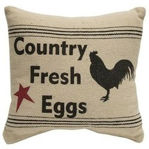"""Country Fresh Eggs "" Table Top 12"" Toss Pillow  FARMHOUSE COUNTRY DECOR - £18.16 GBP"