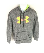 Under Armour Gray Hoodie Sweater Neon  Green L - $24.74