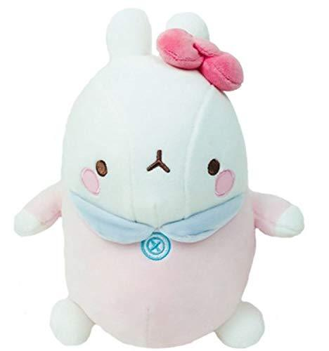 "Molang Soft Mochi Fluffy Bebe Stuffed Animal Rabbit Plush Toy 9.8"" (Pink)"