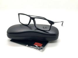 RAY-BAN MATTHEW Eyeglasses Frame RB7021 5364 55-14-140 Black Matte BC35 - $75.63
