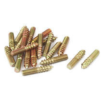 UXCELL Furniture Metal Double End Thread Self Tapping Screw Bolt Stud Fa... - $11.95