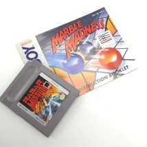 Game Boy Marble Madness Game Cartridge AND Manual DMG-MB-USA-1 1991 ❤️ Tested - $34.99