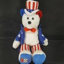 UNCLE SAM Limited Treasures Stuffed Teddy Bear Hometown Heroes USA - $12.86