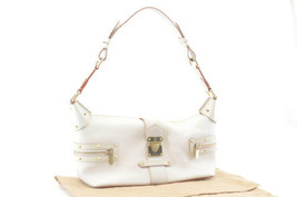 LOUIS VUITTON Suhali Leather Limpetueux Blanc Shoulder Bag M91858 Auth 2201 - $480.00