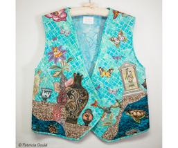 """Atlantis Daydream"" - One of a kind cotton vest - $100.00"