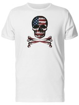 Grunge Skull And American Flag Men's Tee -Image by Shutterstock - $9.86+