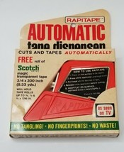 Tape Dispenser Vintage RAPITAPE Automatic Cuts & Tapes - €8,82 EUR
