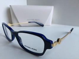 New MICHAEL KORS MK 8023 Abela V 3134 52mm Blue Gold Women's Eyeglasses - $149.99