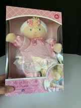 My 1st Baby Doll Kids Preferred Pink Blonde 2015 Striped Dress Lovey Blu... - $19.79