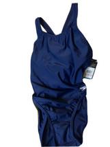 Speedo Womens ProLT Super Pro Solid One Piece Swimsuit Size 10/36 Dark Blue - $19.75