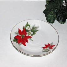 REGENT FINE CHINA CHRISTMAS SAUCER POINSETTIA REPLACEMENT FLORAL no cup - $4.53