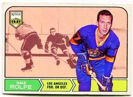 1968/69 Topps Dale Rolfe Card #41 Los Angeles Kings - $1.99