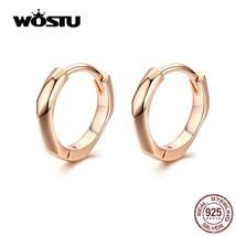 2020 Rose Gold Hoop Earrings 925 Sterling Silver Small Hoop Earrings For... - $14.45