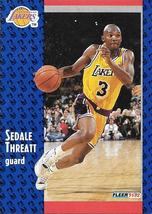 Sedale Threatt ~ 1991-92 Fleer #304 ~ Lakers - $0.05