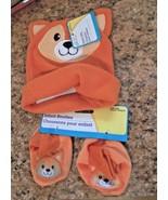 New Angel Of Mine 3 Pc Set  Infant Baby Orange Fox Fleece - $7.69