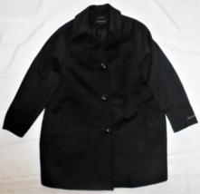 GIII Jones New York Black Long Overcoat Women's Size 18W Wool Blend MSRP... - $64.33
