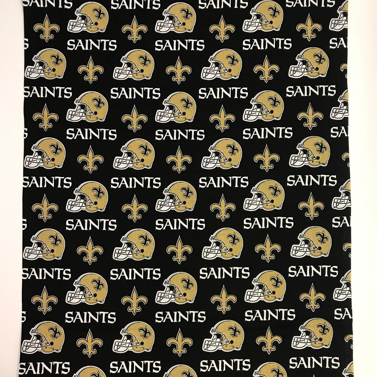 New Orleans Saints 100% Cotton Fabric Traditions 58in Wide 2.5 Yard Piece