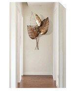 Hanging 3d Wall Plaque Large Iron Wall Leaf Home Decor Wall Art - €264,88 EUR