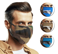 Reusable Washable Cloth Face Cover Camo Camouflage Mask Handmade in USA