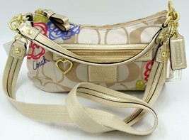 Coach F20761 Daisy Appliqué Multicolor Signature Jacquard Cross Body Bag... - $142.49